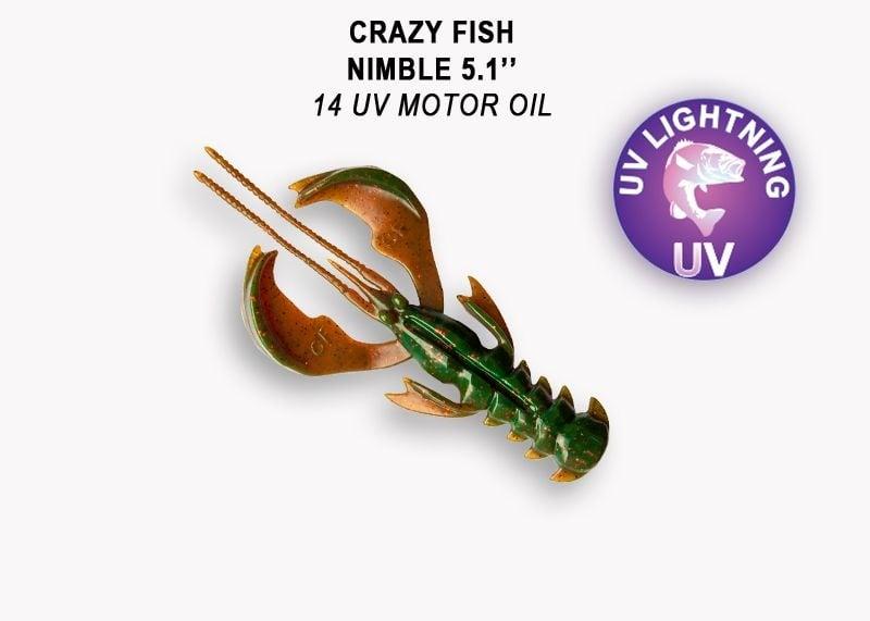 Crazy Fish Nimble 12.5см Силиконова примамка