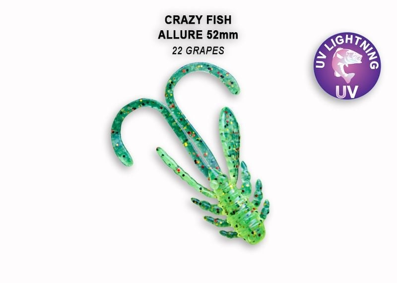 Crazy Fish Allure 5.2см Силиконова примамка 22 Grapes