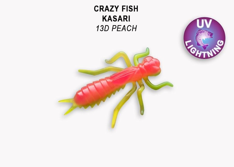 Crazy Fish Kasari 2.7см Floating Силиконова примамка