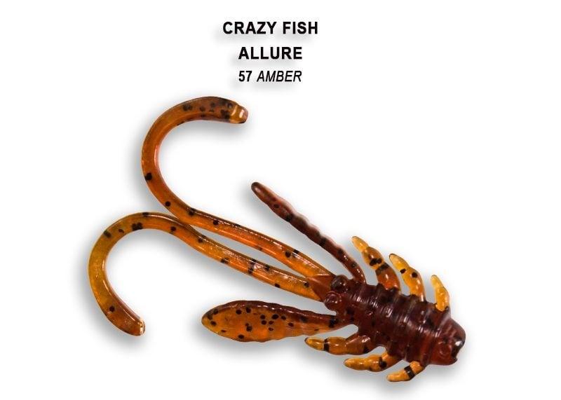 Crazy Fish Allure 4см Силиконова примамка 57 Amber