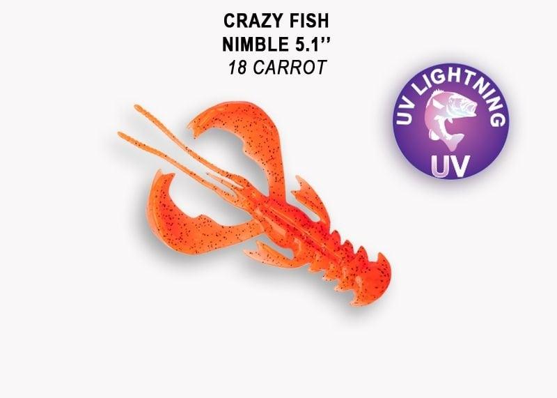 Crazy Fish Nimble 12.5см Силиконова примамка 18 Carrot