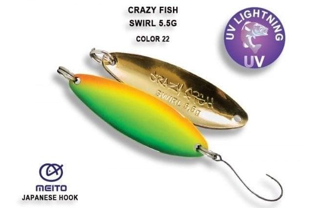 Клатушка Swirl 5.5гр. Crazy Fish 22