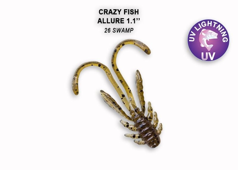 Crazy Fish Allure 2.7см Силиконова примамка 26 Swamp