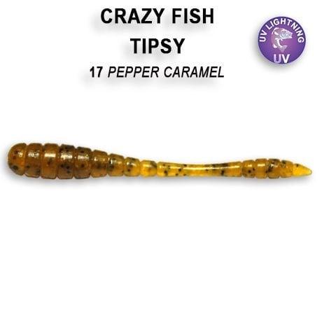 Crazy Fish Tipsy 5см Силиконова примамка  17 Pepper Caramel
