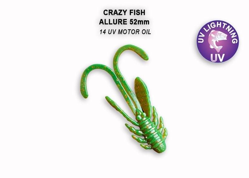 Crazy Fish Allure 5.2см Силиконова примамка 14 UV Motor Oil