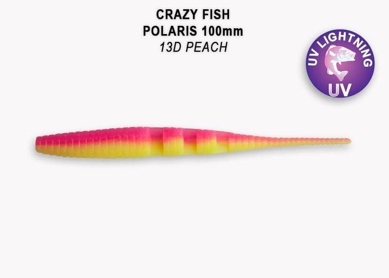 Crazy Fish Polaris 10см Силиконова примамка  13D Peach