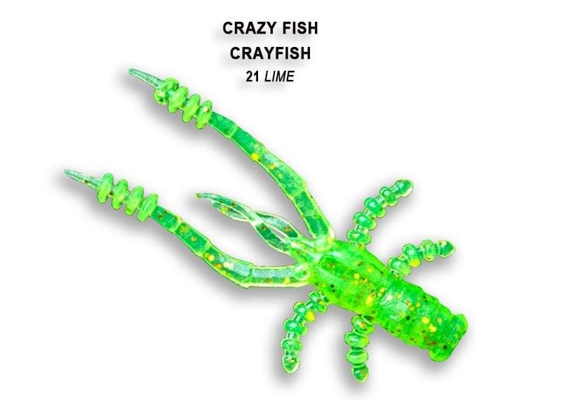 Crazy Fish CrayFish 4.5см Силиконова примамка 21 Lime
