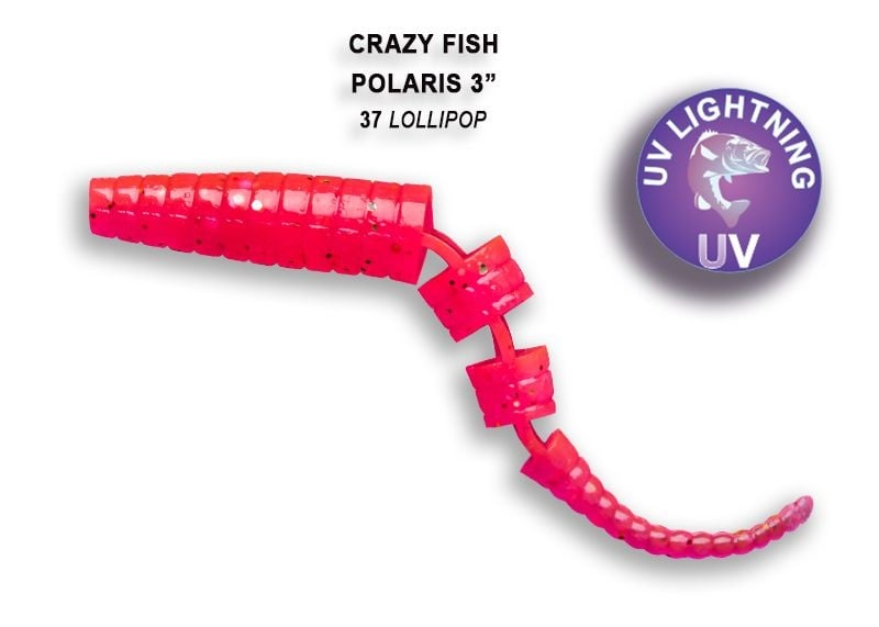 Crazy Fish Polaris 6.8см Силиконова примамка  37 Lollipop