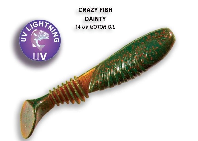 Crazy Fish Dainty 8.5см Силиконова примамка  14 UV Motor Oil