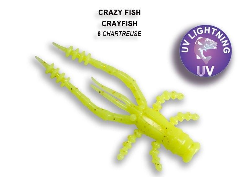 Crazy Fish CrayFish 4.5см Силиконова примамка 06 Chartreuse