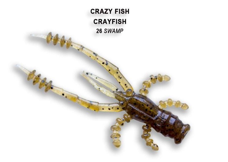 Crazy Fish CrayFish 4.5см Силиконова примамка 26 Swamp
