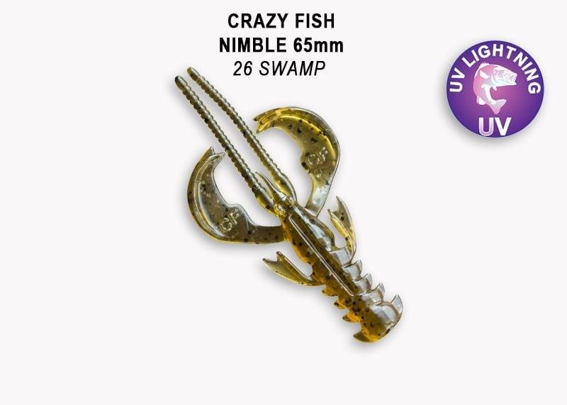 Crazy Fish Nimble 6.5см Силиконова примамка  26 Swamp