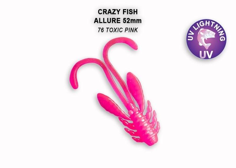 Crazy Fish Allure 5.2см Силиконова примамка 76 Toxic Pink