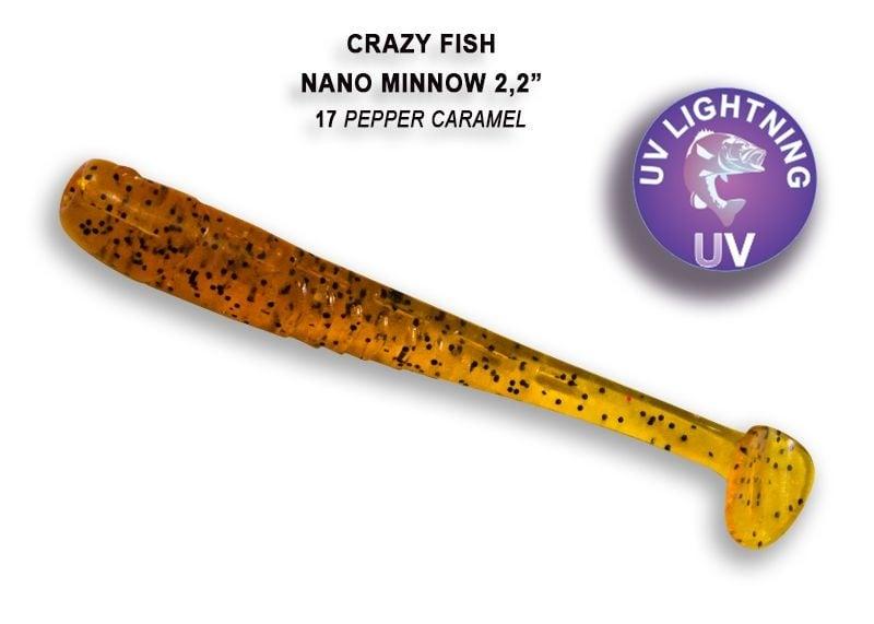 Crazy Fish Nano Minnow 5,5см Силиконова примамка  17 Pepper Caramel