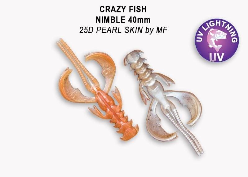 Crazy Fish Nimble 4см Силиконова примамка  25D Pearl Skin