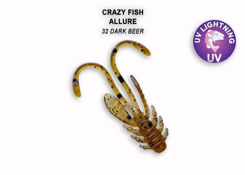 Crazy Fish Allure 2.7см Силиконова примамка 32 Dark Beer