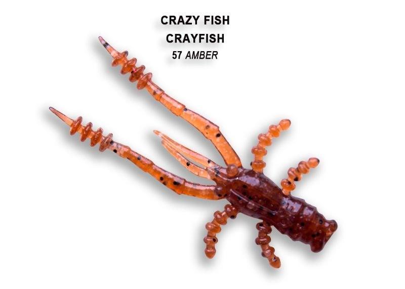 Crazy Fish CrayFish 4.5см Силиконова примамка 57 Amber