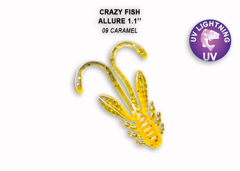 Crazy Fish Allure 2.7см Силиконова примамка 09 Caramel