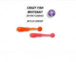Силиконова примамка White Bait 2,1см Crazy Fish