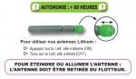 Fun Fishing Lithium Antenne (Led) 3mm Светеща ампула Червена